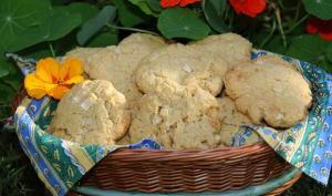 Cookies aux amandes et chocolat blanc