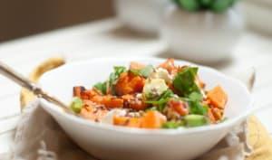 Salade patates douces rôties