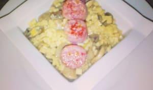 risotto de crozets et diots de Savoie