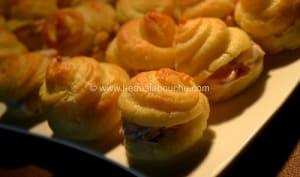 Chouquettes Farcies au Jambon et à la Moutarde