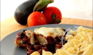 Escalopes gratinées à l'aubergine et mozzarella