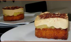 Sablé breton compotée de pommes et mousse spéculoos
