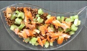 Salade de lentilles, haddock et céleri