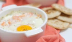 Oeufs cocotte saumon et gorgonzola
