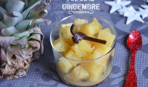 Compote d'ananas gingembre et vanille