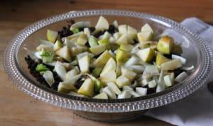 Salade de lentilles, pommes, fenouil