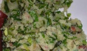 Purée verte aux pommes de terre et épinards frais