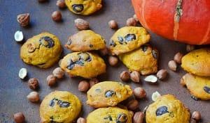 Cookies potimarron / chocolat / noisettes
