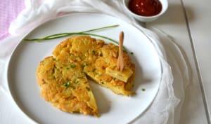 Tortilla de pommes de terre aux oignons