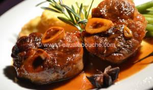 Jarret de Porc Caramélisé Sauce Au Vin Cuit