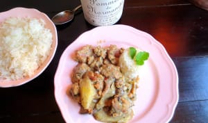 Seitan façon Poulet au Cidre et sa Sauce aux champignons et Pommeau