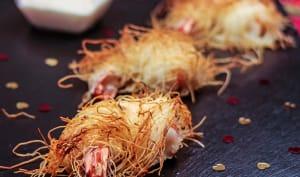 Gambas en kadaïf, sauce aïoli