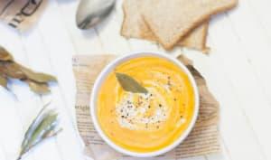 Soupe de légumes grillés