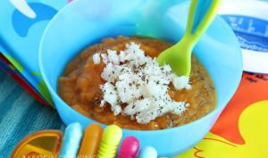 Purée de patate douce et colin - 6/8 mois