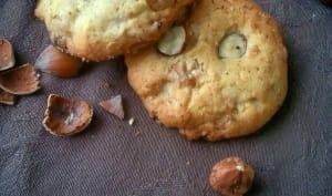 Cookies aux noisettes et chocolat blanc