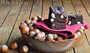 Brownie chocolat, tonka, noisettes