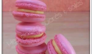 Macarons girly aux fruits de la passion