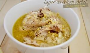Lapin au citron confit et parmesan