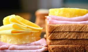 Sandwiches jambon fromage