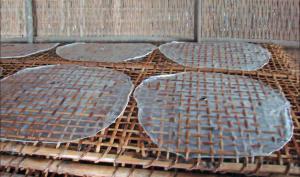 Fabrication de feuilles de riz