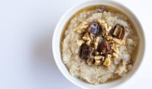 Crème de riz, céréales et érable