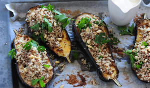 Aubergines farcies au quinoa
