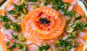 Carpaccio de saumon
