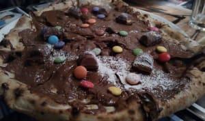 Pizza au nutella, kinder bueno et smarties