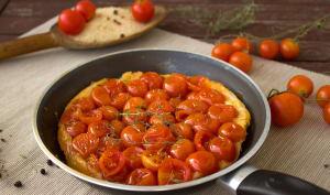 Tarte à la tomate sur pâte feuilletée