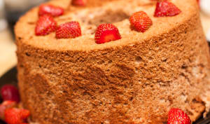 Angel cake chocolat fraise