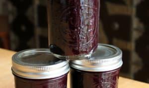 Pots de gelée de raisins fait maison
