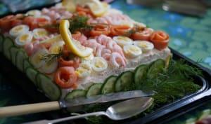 Smörgåstårta ou sandwich cake