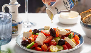 Salade tomates, concombres, olives, feta