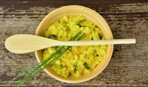Assiette de risotto au curry