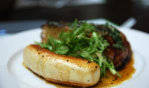 Boudin blanc et salade