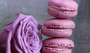 Macarons rose aux framboises
