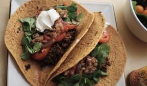 Tacos au bœuf râpé