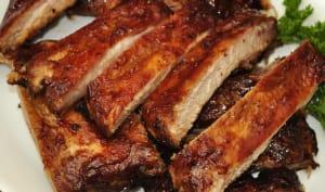 Travers de porc grillés
