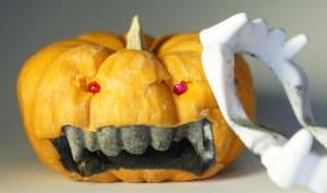 Citrouille zombie pour halloween