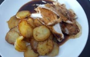 Chapon farci au foie gras : le jus de cuisson - Etape 6