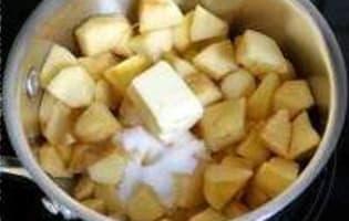 Crumble pommes myrtilles  - Etape 1