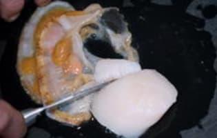 Parer une noix de saint Jacques - Etape 2