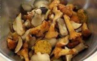 Poêlée de champignons sauvages - Etape 3