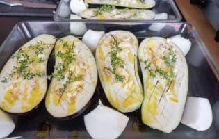 Aubergines gratinées - Etape 3