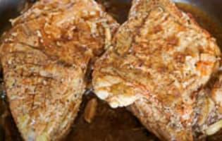 Tendrons de veau laqués à la plancha - Etape 9