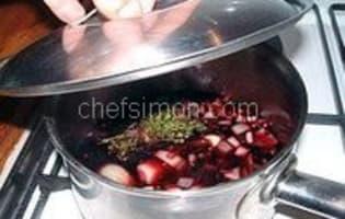 Escargots sauce au vin rouge - Etape 4