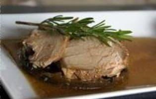 Rouelle de porc braisée - Etape 17