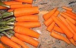 Présenter et cuire des carottes primeur - Etape 1