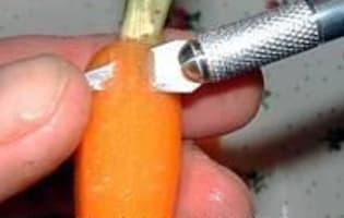 Présenter et cuire des carottes primeur - Etape 2