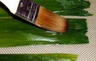 Vitrail de poireaux - Etape 6